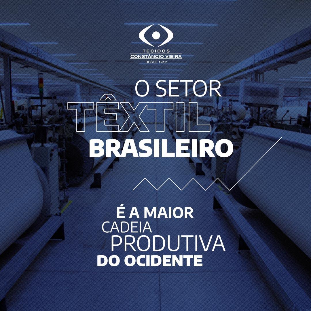 A força do setor têxtil brasileiro