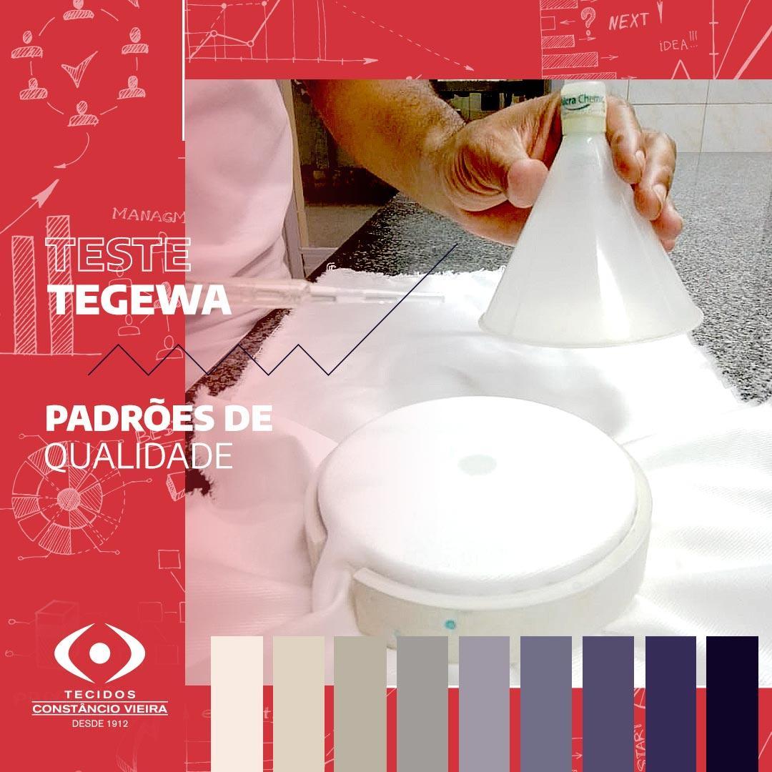 Residual de goma no tecido e o teste TEGEWA