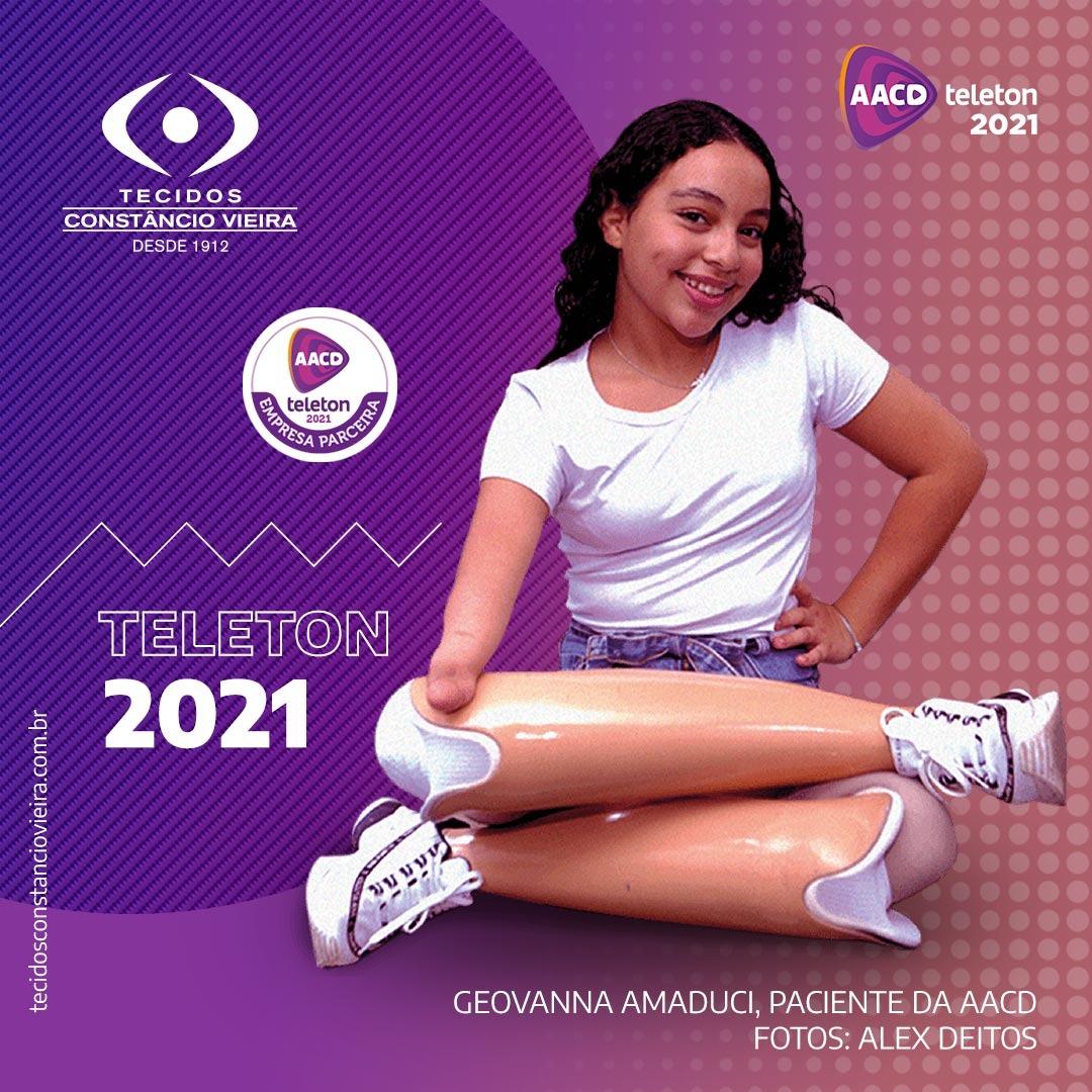 Teleton 2021: Tecidos Constâncio Vieira, marca parceira do evento como apoiadora de infraestrutura